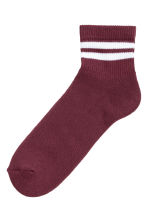 Fine-knit socks - Burgundy - Men | H&M CN 1