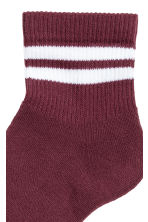 Fine-knit socks - Burgundy - Men | H&M CN 2