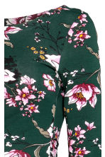 MAMA Jersey dress - Dark green/Floral - Ladies | H&M CN 3