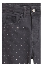 Vintage Slim High Jeans - Charcoal/Sparkly stones - Ladies | H&M CN 5