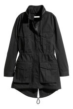 H&M+ Short cotton parka - Black - Ladies | H&M 2