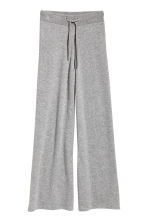 Wide cashmere trousers - Grey marl - Ladies | H&M CN 2