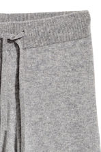 Wide cashmere trousers - Grey marl - Ladies | H&M CN 3
