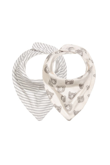 2-pack triangular scarves - Natural white - Kids | H&M