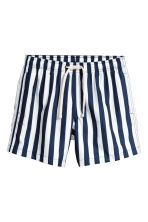 Short swim shorts - Dark blue/White striped - Men | H&M CN 2