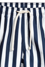Short swim shorts - Dark blue/White striped - Men | H&M CN 3