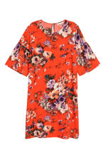 Flounce-sleeved dress - Red/Floral - Ladies | H&M 2