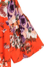 Flounce-sleeved dress - Red/Floral - Ladies | H&M 3