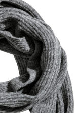 Ribbed cashmere scarf - Grey marl - Men | H&M CN 2