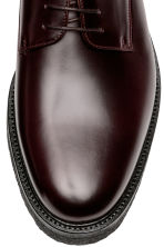 Leather Derby shoes - Burgundy - Men | H&M 3