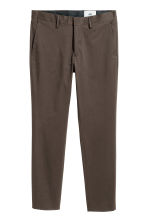Cotton twill chinos - Dark brown - Men | H&M 2