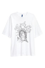 T-shirt with a print motif - White/NYC -  | H&M 2