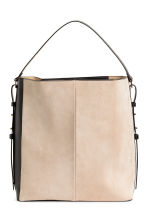 Hobo bag with suede details - Black/Beige - Ladies | H&M 2
