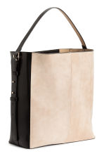 Hobo bag with suede details - Black/Beige - Ladies | H&M 3