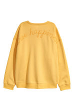 Embroidered Sweatshirt - Yellow/Possibilities - Ladies | H&M CA 3