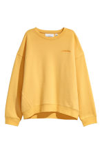 Embroidered Sweatshirt - Yellow/Possibilities - Ladies | H&M CA 2