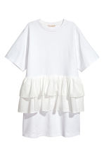 Flounced tunic - White - Ladies | H&M IE 2