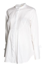 MAMA Cotton blouse - White - Ladies | H&M 2