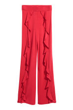 Flounced trousers - Red -  | H&M 2