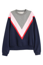 Block-coloured sweatshirt - Grey/Purple - Ladies | H&M 2