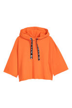 Hooded crop top - Orange - Ladies | H&M CN 2