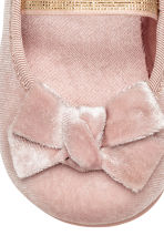 Ballerine in velluto - Rosa cipria -  | H&M IT 4