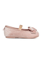 Ballerine in velluto - Rosa cipria -  | H&M IT 2