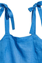 Linen top - Cornflower blue - Ladies | H&M 3