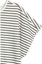 Modal-blend top - White/Black striped - Kids | H&M 3
