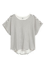 Modal-blend top - White/Black striped - Kids | H&M 2