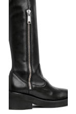 Leather over-the-knee boots - Black - Ladies | H&M CN 3
