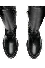 Leather over-the-knee boots - Black - Ladies | H&M CN 2