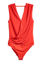 V-neck wrapover body - Red - Ladies | H&M CN 2
