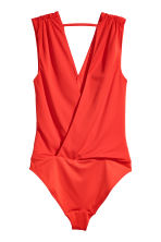 V-neck wrapover body - Red - Ladies | H&M 3