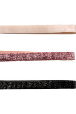 3-pack hairbands - Light beige/Glittery - Ladies | H&M 2