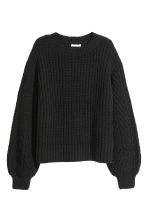 Loose-knit Sweater - Black - Ladies | H&M CA 2