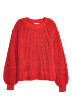 Loose-knit Sweater - Red - Ladies | H&M CA