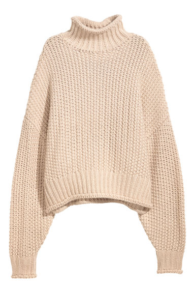 Chunky-knit jumper - Light beige - Ladies | H&M IE