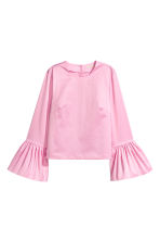Blouse with flounced sleeves - Light pink - Ladies | H&M CN 2