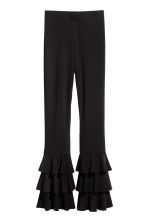 Flounced trousers - Black - Ladies | H&M IE 2