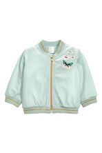 Velvet bomber jacket - Light turquoise - Kids | H&M 1