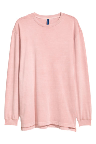 Long-sleeved top - Old rose - Men | H&M