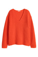 Ribbed jumper - Orange - Ladies | H&M GB 2