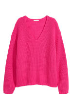 Ribbed jumper - Cerise - Ladies | H&M 2