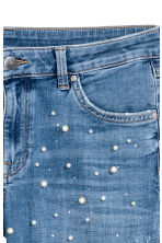 Beaded jeans - Denim blue - Ladies | H&M 4