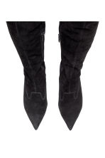 Suede thigh boots - Black - Ladies | H&M 2
