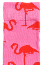 Socks with an intarsia motif - Pink/Patterned - Men | H&M CN 2