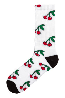 Socks with a motif