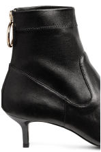 Leather ankle boots - Black - Ladies | H&M 5