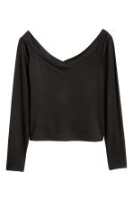 Off-the-shoulder top - Black - Ladies | H&M GB 3